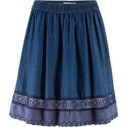 945ba352 Spódnica Bonprix mini niebieska bez wzorów