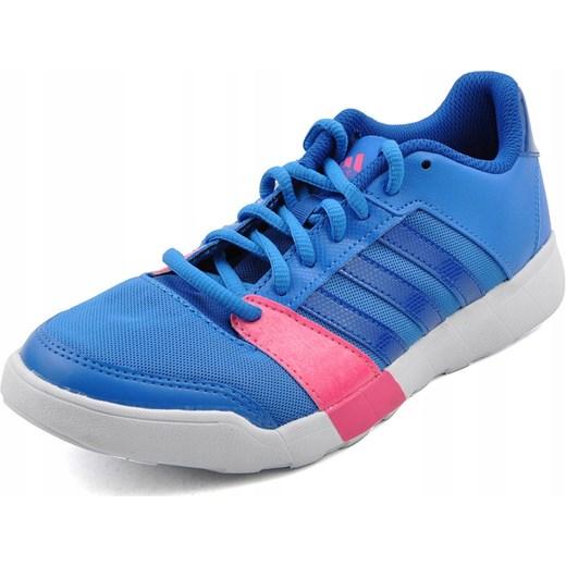 Buty sportowe damskie Adidas do fitnessu płaskie na wiosnę wiązane bez wzorów