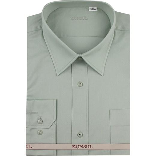 91cdb7ce Koszula męska Konsul gładka z długim rękawem elegancka z tkaniny