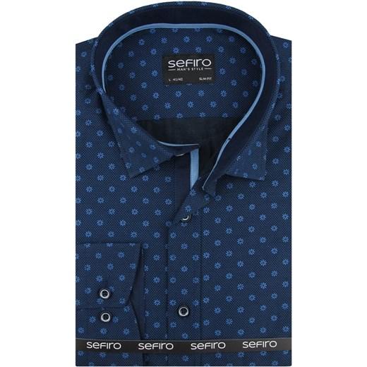 Koszula męska Sefiro z klasycznym kołnierzykiem Odzież Męska  7gk2T