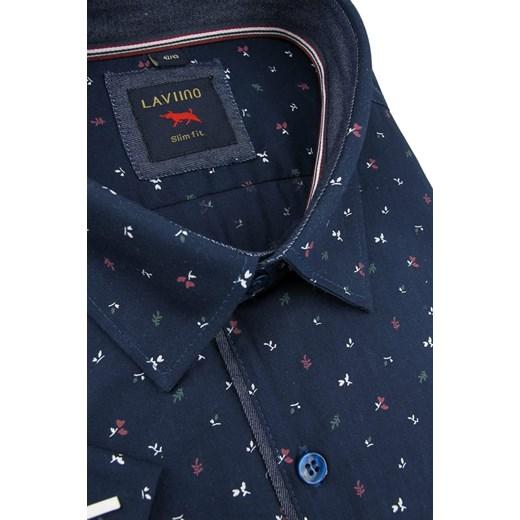 Koszula męska Laviino z bawełny Odzież Męska EE Koszule  CNq2m