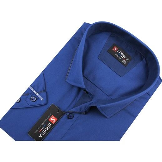 Koszula męska Speed.A z krótkim rękawem z klasycznym  IHGsn