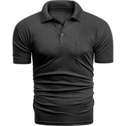 d2ed6f4d T-shirt męski Risardi czarny z krótkim rękawem