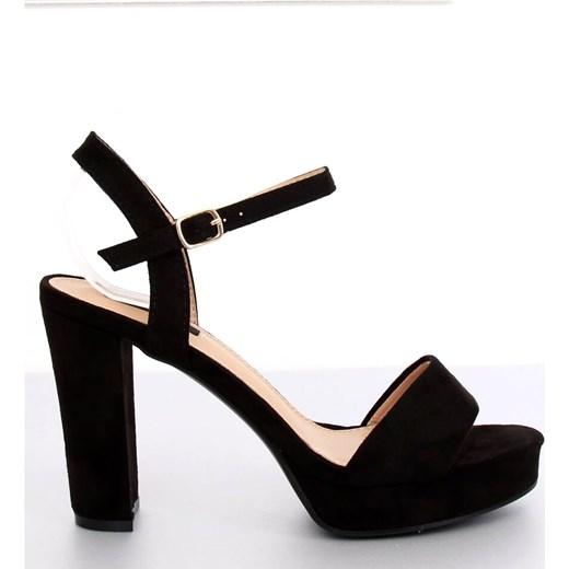 oferta Czarne sandały damskie Butymodne bez wzorów na