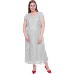e82e5f12 Sukienka koronkowa szara z okrągłym dekoltem