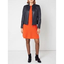 047a19ede8ab5 Boss Casual sukienka pomarańczowy z okrągłym dekoltem dzienna rozkloszowana