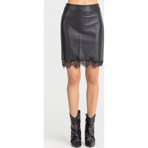 gorąca wyprzedaż w 2019 roku Czarna spódnica Guess skórzana
