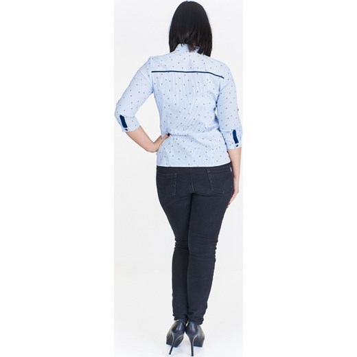 Stała usługa Koszula damska Sandra niebieska z długim