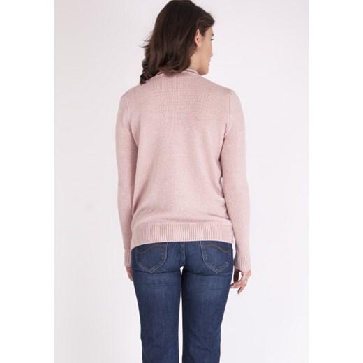 80% ZNIŻKI Sweter damski różowy Mkm Knitwear Design Odzież