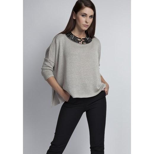 trwałe modelowanie Mkm Knitwear Design sweter damski z