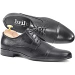 5d95fdff6733c Teksturowane skórzane buty wizytowe Blase czarne - zdjęcie produktu