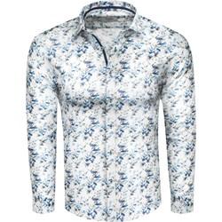 9880397485a869 Koszula męska Recea młodzieżowa z długim rękawem wielokolorowa w  abstrakcyjne wzory