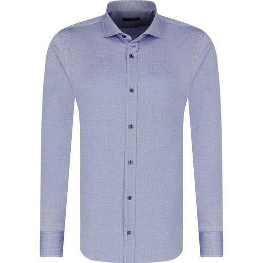 c07b54f7 Koszula męska niebieska Z Zegna z długim rękawem gładka