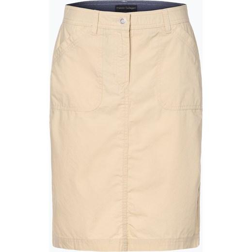 Spódnica beżowa Franco Callegari mini Odzież Damska CP beżowy Spódnice HHOP ZMNIEJSZONE O 50%