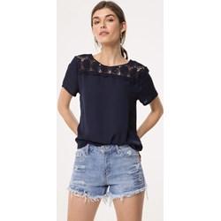 42399b3522884e Granatowe bluzki damskie born2be odzież, lato 2019 w Domodi