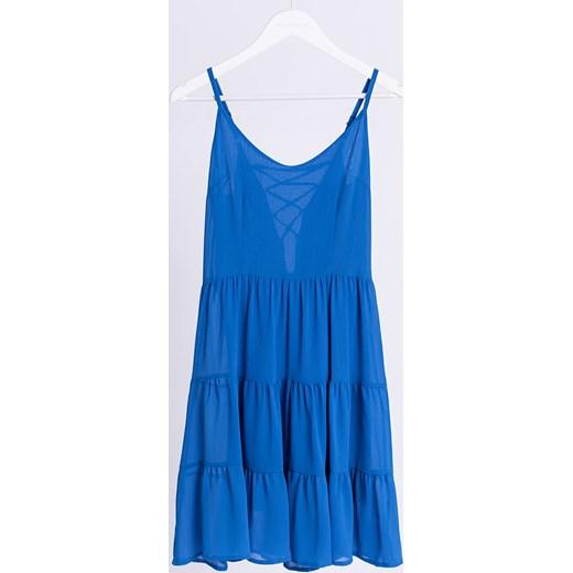 ekonomiczny Selfieroom sukienka z okrągłym dekoltem midi