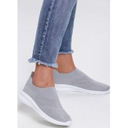 3465cdeec9c71 Szare buty sportowe damskie Renee bez zapięcia bez wzorów