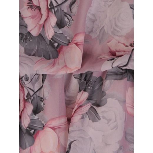 cb507532 Sukienka z szyfonu, luźna kreacja w kwiaty 21263. Modbis