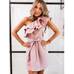 b68c4445aa56cc Sukienka różowa Selfieroom mini gładka casual