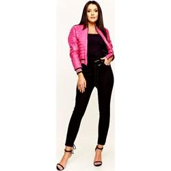 6e73d275 Różowa kurtka damska Frivole Fashion casual bez kaptura