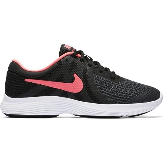 Buty sportowe damskie Nike do biegania revolution gładkie na wiosnę płaskie sznurowane