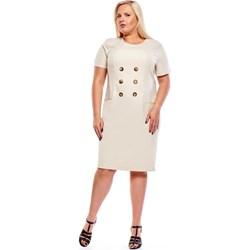 2da38ee3746a02 Fokus sukienka z krótkimi rękawami bez wzorów midi