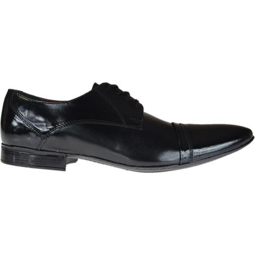 a07466a8 Buty eleganckie męskie Agda sznurowane czarne na jesień w Domodi