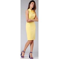 7dd18eca32aea1 Sukienka Nommo midi bez rękawów do pracy ołówkowa