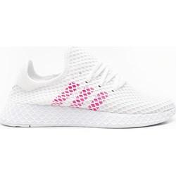 6df09260 Buty sportowe damskie Adidas do biegania bez wzorów płaskie sznurowane  wiosenne