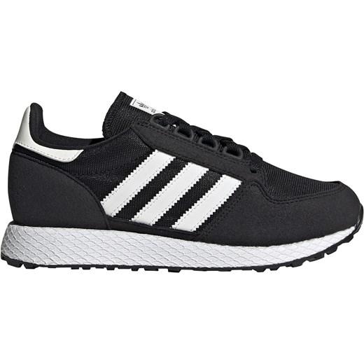 Buty sportowe damskie Adidas do biegania czarne na płaskiej podeszwie
