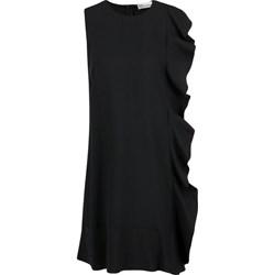 22fd83fb Sukienka Red Valentino czarna gładka bez rękawów elegancka z okrągłym  dekoltem
