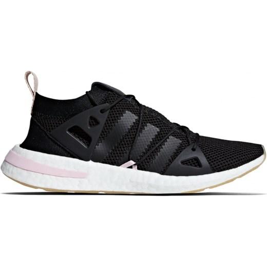 Buty sportowe damskie Adidas Originals czarne płaskie sznurowane