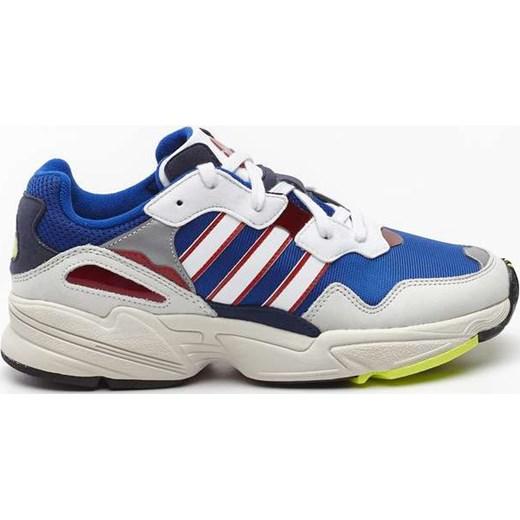 piękny Buty sportowe męskie Adidas skórzane wiązane na