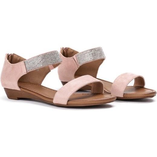 80eebc9f ... Różowe sandały na niskiej koturnie Acellia - Obuwie Royalfashion.pl 36  ...