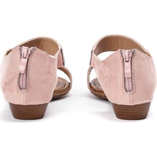 b6e78dbc ... Różowe sandały na niskiej koturnie Acellia - Obuwie Royalfashion.pl 40  ...