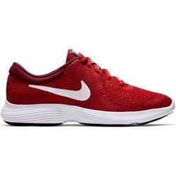 9807a42f Buty sportowe damskie Nike dla biegaczy młodzieżowe revolution czerwone  gładkie sznurowane