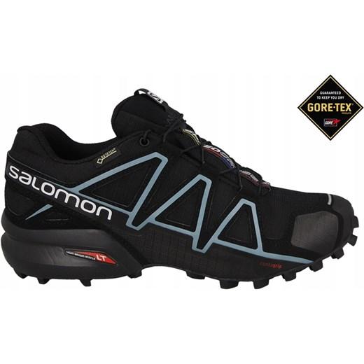 Buty sportowe damskie Salomon speedcross gore tex bez wzorów sznurowane płaskie