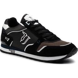 925e9a5907464d Buty sportowe męskie czarne Trussardi Jeans na jesień zamszowe sznurowane  ...