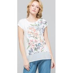 b275df8ecd8278 Bluzka damska Monnari w kwiaty z krótkim rękawem z wiskozy