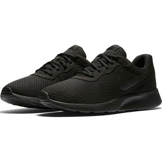 Buty sportowe męskie Nike tanjun czarne jesienne sznurowane