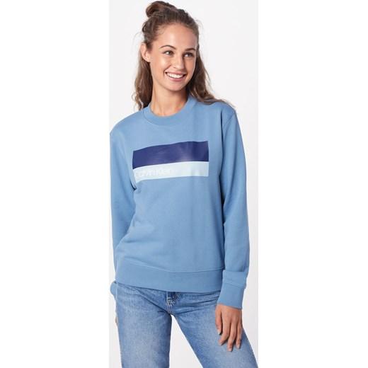 wylot Bluza damska Calvin Klein Odzież Damska FH niebieski