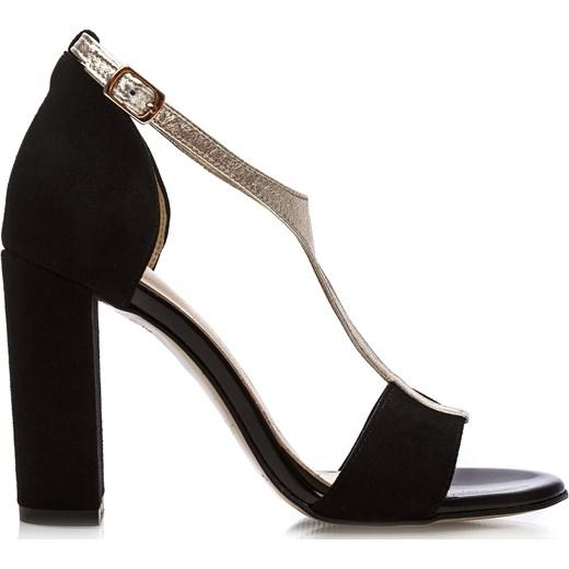 5e0d6b1b577b18 Arturo Vicci sandały damskie bez wzorów eleganckie czarne na wysokim ...
