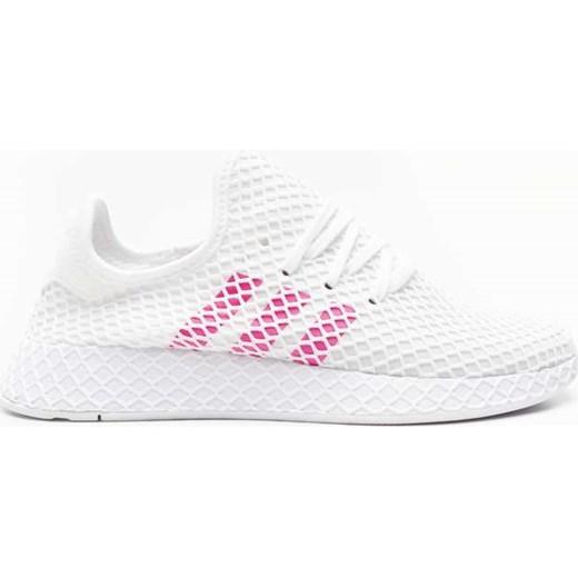 Buty sportowe damskie Adidas do biegania białe wiązane
