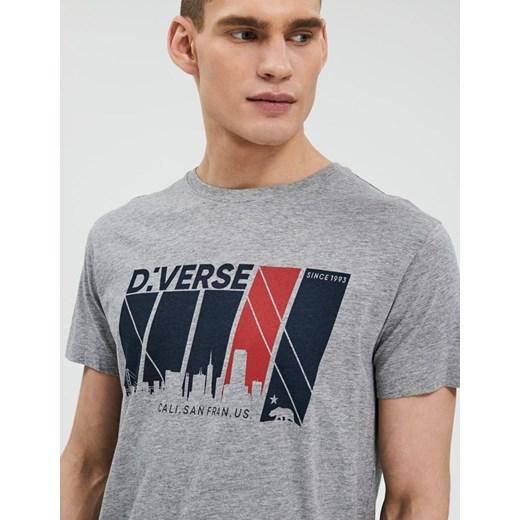ekonomiczny T shirt męski Diverse z krótkim rękawem Odzież
