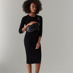 5e1d0102bc092f Sukienka Mohito z okrągłym dekoltem czarna z długim rękawem do pracy  elegancka bodycon midi