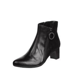 85174f8a1eb8d9 Botki Gerry Weber Shoes skórzane bez wzorów na obcasie z zamkiem