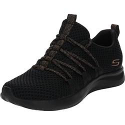 76c98657 Buty sportowe damskie Skechers w stylu młodzieżowym sznurowane gładkie  płaskie