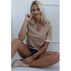 8d2e056e0 Bluzka damska z krótkimi rękawami z bawełny casualowa