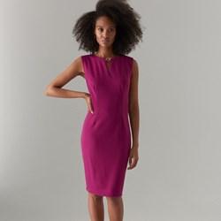 16533d90063453 Różowa sukienka Mohito elegancka ołówkowa bez rękawów