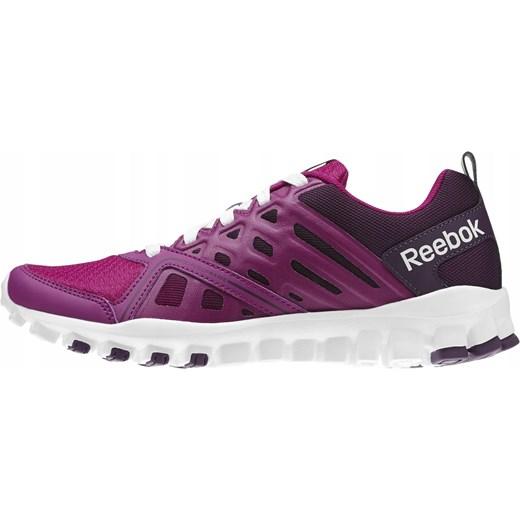 RÓżowe buty sportowe damskie Reebok gładkie sznurowane